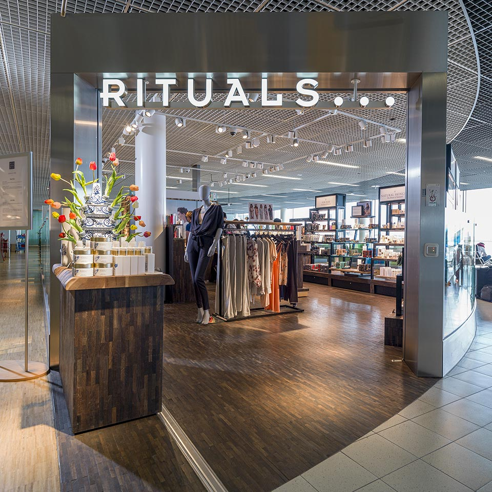 Rituals stores at Schiphol